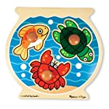 Melissa & Doug Deluxe Fish Bowl Jumbo Knob Puzzle