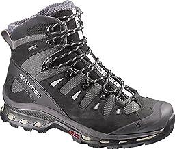 Salomon Men\'s Quest 4D 2 GTX Hiking Boots Detroit / Black / Navajo 13 & Collapsing Waterbottle Bundle