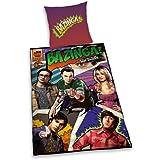 Herding 440643050412 Bettwäsche Big Bang Theory, Kopfkissenbezug 80 x 80 cm und Bettbezug 135 x 200 cm, 100 % Baumwolle, Renforce