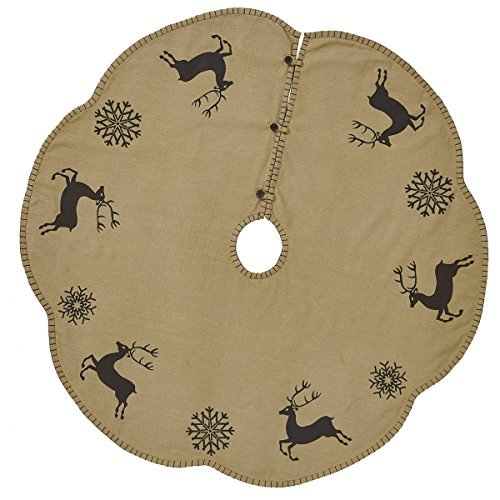 Prancer Holiday Christmas Tree Skirt 48