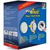 Dundas Jafine BPSH4WZW ProShield 4-Inch Spring Loaded Dryer Vent Hood, White