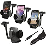 ITALKonline (CARKIT PACK) In Car Windscreen Mount Suction Holder and In Car 12/24V Car Charger for Nokia 2330 Classic