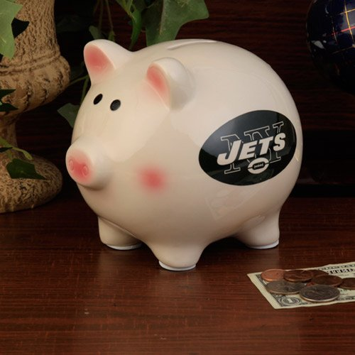 NFL New York Jets Team Ceramic Piggy Bank at Amazon.com