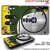 DJ Hero Skin WWII Bomber War Plane fit XBOX 360 and PS3 (DJ HERO NOT INCLUDED)