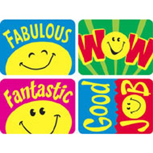 Trend Enterprises Smiley Faces Applause Stickers (T-47157) - 1