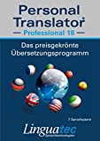 img - for Personal Translator Professional 18   Award winning translation program for Windows   Contains 7 language pairs (German-English, German-French, English-French, English-Italian, English-Portuguese, English-Spanish, English-Chinese)   As a full text translator including voice output (useful for proofreading or when in doubt about pronunciation), a huge, comprehensive, expandable and clever dictionary (now new: incl. Medicine and Engineering Technology), translation memory and a reference for business correspondence (Business English: 25,000 text blocks are available for writing English business letters) Personal Translator Professional 18 offers help for all translation jobs + Personal Translator Professional is able to learn. Future translations are improved by continuous editing + Automatic correction of spelling mistakes   Personal Translator Professional 18 is an indispensable tool for swift and efficient translations   Leading companies worldwide rely on Personal Translator as their preferred translation tool thereby saving much time and money   SECURE: Translation takes place on the PC, not on the Internet   PROFESSIONAL: Intelligent SmartTranslationTM technology for extraordinary results   EFFICIENT: Demonstrated time savings of over 40%   EXTENSIVE: Large dictionaries with more than 4 million entries   COMFORTABLE: Integrates directly into Microsoft Office (Word, Outlook, Excel and PowerPoint) book / textbook / text book