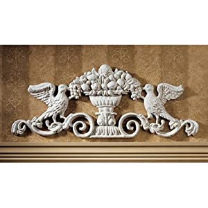 Design Toscano SP742 Urn Ornamental Iron Architectural Pediment Wall Art by Design Toscano
