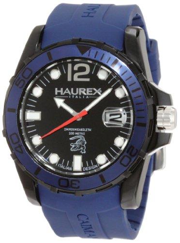 3bc3aeb2420e Haurex Italy N1354UNB - Reloj analógico de cuarzo para hombre con correa de  caucho
