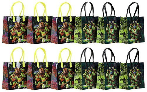 "TMNT Teenage Mutant Ninja Turtles Party Favor Goodie Gift Bag - 6"" Small Size (12 Packs)"