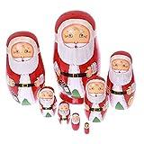 Xlp 人形 ウッド 手作り 装飾 ロシア套娃 ギフト 8本 サンタクロース
