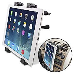 [Lifetime Warranty] Okra Universal Tablet Air Vent Car Mount Holder with 360 ° Rotating swivel compatible w/ Apple iPad, Samsung Galaxy Tab, and all Tablet Devices 7 to 11 (Retail Packaging)
