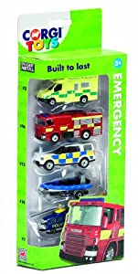 Corgi Toys Emergency Services Vehicle (Pack of 5)