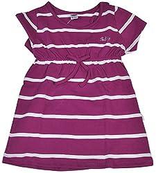 Be BeBo Girl's Lycra Regular Fit Dress (528, Violet, 2-3yrs)