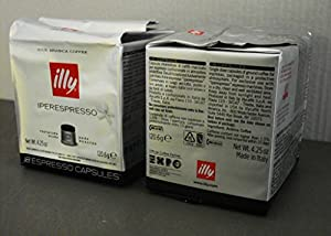 Buy Illy Coffee Iperespresso Dark Roast - Set 2 cubes of 18 capsules each from Illy