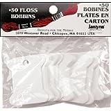 Janlynn Cardboard Floss Bobbins, 50/pkg