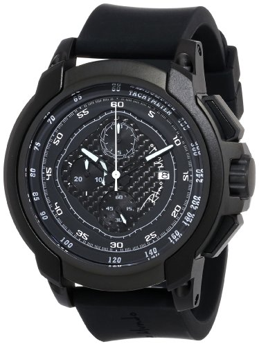 Ritmo-Mundo-Unisex-10011-Black-Quantum-Sport-Quartz-Chronograph-Carbon-Fiber-and-Aluminum-Accents-Watch