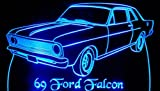1969 Ford Falcon Acrylic Lighted Edge Lit LED Car Sign   Light Up Plaque 69
