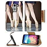 LG G Pro 2 Flip Case Five ballet dancers in dance class near the barre Legs only Soft focus IMAGE 37161041 by Luxlady Customized Premium Deluxe Pu Leather generation Accessories HD Wifi Luxury Protect