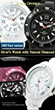 [Alain Divert] Natural Diamond Japanese Movement Diving Watches (Climbing/Hiking/Walking/Camping) Mens