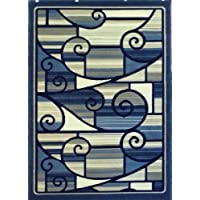 Modern Area Rug 5 Ft. 2 In. X 7 Ft. 3 In. Blue Design 110