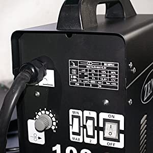SuperDeal MIG-100 Gas-Less Flux Core Wire Welder Welding Machine Automatic Feed Unit DIY Black 110V from Super Deal