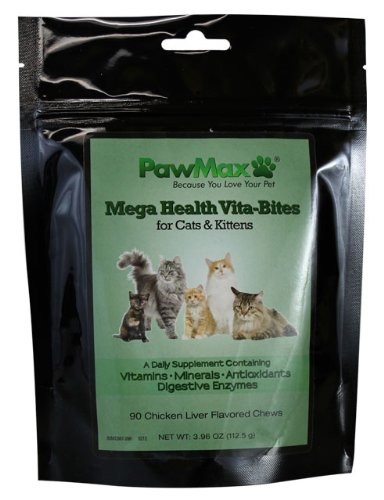 Pawmax Mega Health Vita-Bites For Cats & Kittens Vet Approved-Made In The Usa*Vitamins-Minerals-Antioxidants-Digestive Enzymes For A Healthy Pet ($1.99 S&H!)
