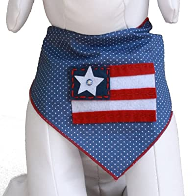 Red White & Blue Flag Dog Bandana Kerchief