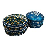 Handmade Jewelry Box Indian Gift Home Decor Table Top Decorative Box Vintage Style Lac Beaded Material Antique...