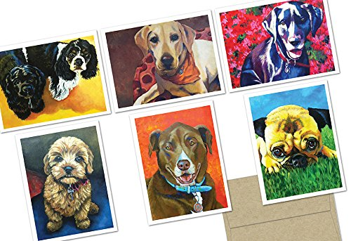 72-note-cards-puppy-love-6-designs-kraft-envelopes-included