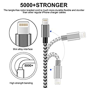 ivvo iPhone Cable, 4Pack 3FT 6FTx2 10FT Nylon Braided Charging Cable Cord iPhone USB Cable iPhone Charger for iPhone X/8/8Plus/7/7 Plus/6s/6s Plus/6/6 Plus/5/5S/5C/SE/iPad, iPod and More