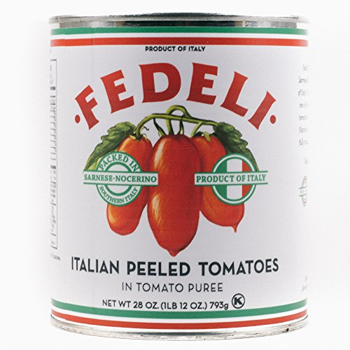 Fedeli Italian Whole Peeled Tomatoes - 28oz 6-Pack (Canned Italian Tomatoes compare prices)