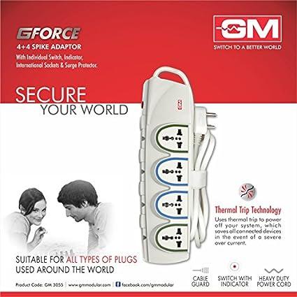 Goldmedal-3055-G-FORCE-4+4-Socket-Spike-Surge-Protector