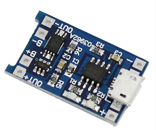 USPRO®18650 Lithium Battery Charging Board Charge and Protection Dual Functions - 1