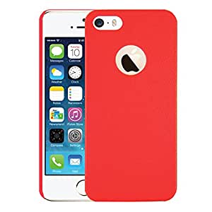 AirPlus AirCase Hard Back Leather Feel with Cutout for Apple iPhone 5/5S (Red)