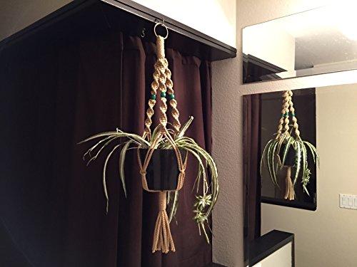 Unlimitedbysilvy Short Macrame Plant Hanger Sand Color