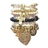 CAT HAMMILL ( キャットハミル ) ブレスレット heart vanilla 3 LIMITED EDITION charms bracelet set ハート チャーム ブレスレットセット バニラカラー ゴールド ポーチ セット 海外 オーストラリア