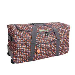 30 Brown Mimimals Animal Print Wheeled Holdalltravel Bag