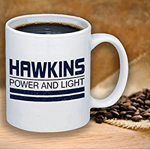 Hawkins Power and Light - Stranger Things - Fandom Coffee Mug Gift Cute Funny Gift Coworker Friend Stranger Thing Fandom Friend Office Gift Co Worker Gift