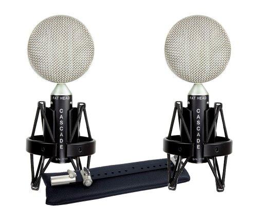 Cascade Microphones Fat Head Blumlein-L, Stereo Pair, Black/Silver