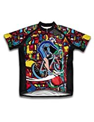Cyclist Art Short Sleeve Cycling Jersey for Women