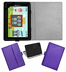 Acm Leather Flip Flap Case For Lenovo Cg Slate Grade 3-5 Tablet Cover Magnetic Closure Stand Purple