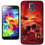 Rocking Rock Band Drum Set with Cymbals Hard Case Clip On Back Cover For Samsung Galaxy S5 i9600 G900