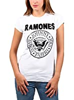 Amplified Camiseta Manga Corta The Ramones (Blanco)