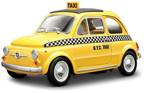 Modellino Auto Burago-1/24 Top Fiat 500 Taxi 1/21 21033