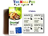 Bayer Drontal for Cat Allworms,Tap Worm and Round Worm , 4Tablets. No Box (Products packed in parcels)