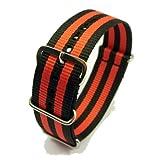 Zeitpunkt-Nylon Watchband black/red 24 mm