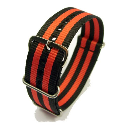 Zeitpunkt-Nylon Watchband black/red 24 mm