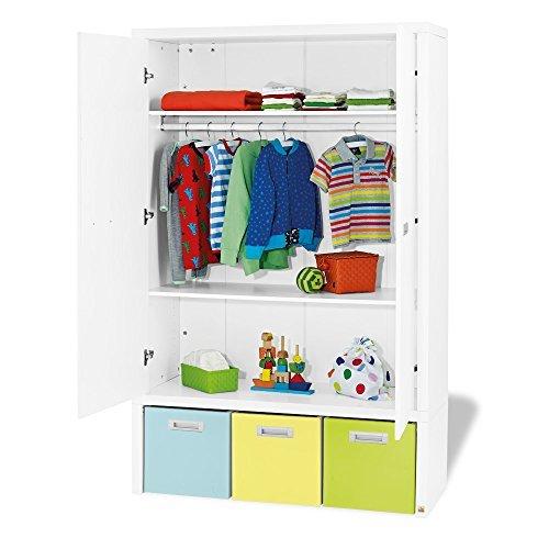 Kleiderschrank ENZO, 2türig, Soft-Close, inkl. 3 Boxen, weiss edelmatt