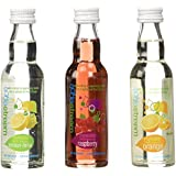 SodaStream My Water Variety All Natural, 3ct, 40ml - Unsweetened Soda Mix, includes Lemon Orange Rasberry