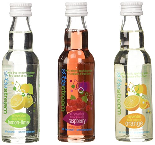 SodaStream My Water Variety All Natural, 3ct, 40ml - Unsweetened Soda Mix, includes Lemon Orange Rasberry (Sodastream Naturals compare prices)